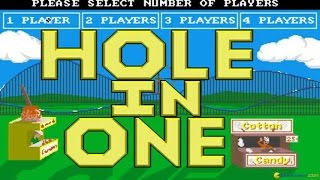 Hole in One Miniature Golf gameplay (PC Game, 1988)