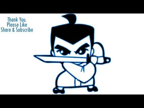 How to Draw a Cute Little cartoon boy with sword - YouTube