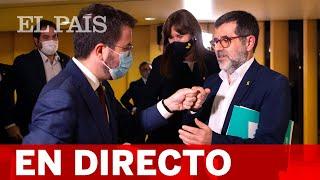 DIRECTO | ARAGONÈS y SÀNCHEZ informan del acuerdo de GOVERN entre ERC y JUNTS