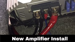 Install New Amplifier in my E90 BMW