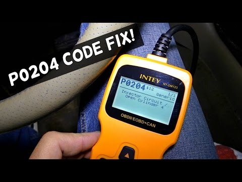 P0204 Injector Circuit Malfunction . Engine light code FIX