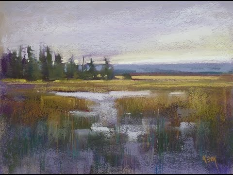 Sunday Studio Paint a Moody Marsh Landscape with Pastels