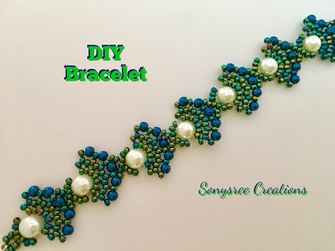Peacock Beaded Bracelet (Square Stitch) 💞