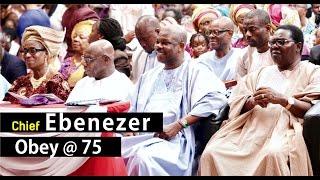 OBASANJO, TOPE ALABI, KING SUNNY ADE @ EBENEZER OBEY'S 75TH BIRTHDAY