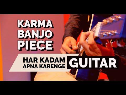 Karma Movie Banjo On Guitar | Aye Watan Tere Liye Song Bollywood Instrumental Unplugged Cover
