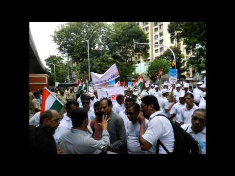 Chalo RBI Peaceful March By Arthakranti for request withdraw of High Denomination Currency
