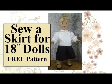 FREE 18 Inch Doll Clothes Patterns: Sew a Skirt for 18\