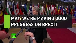 May insists progress is being made on Brexit despite rejected vote