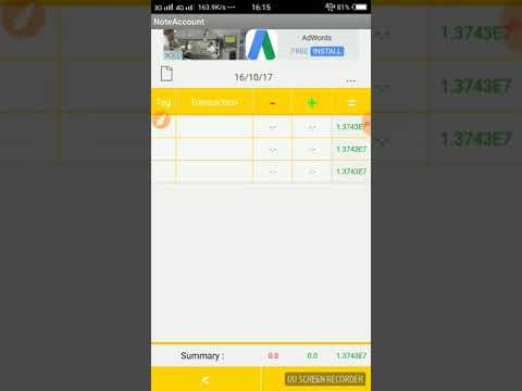 Note account app for small trader Business easy calculator