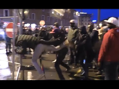 Migrants Protest Angrily In Florence, Italy After The Murder Of Senegalese Man