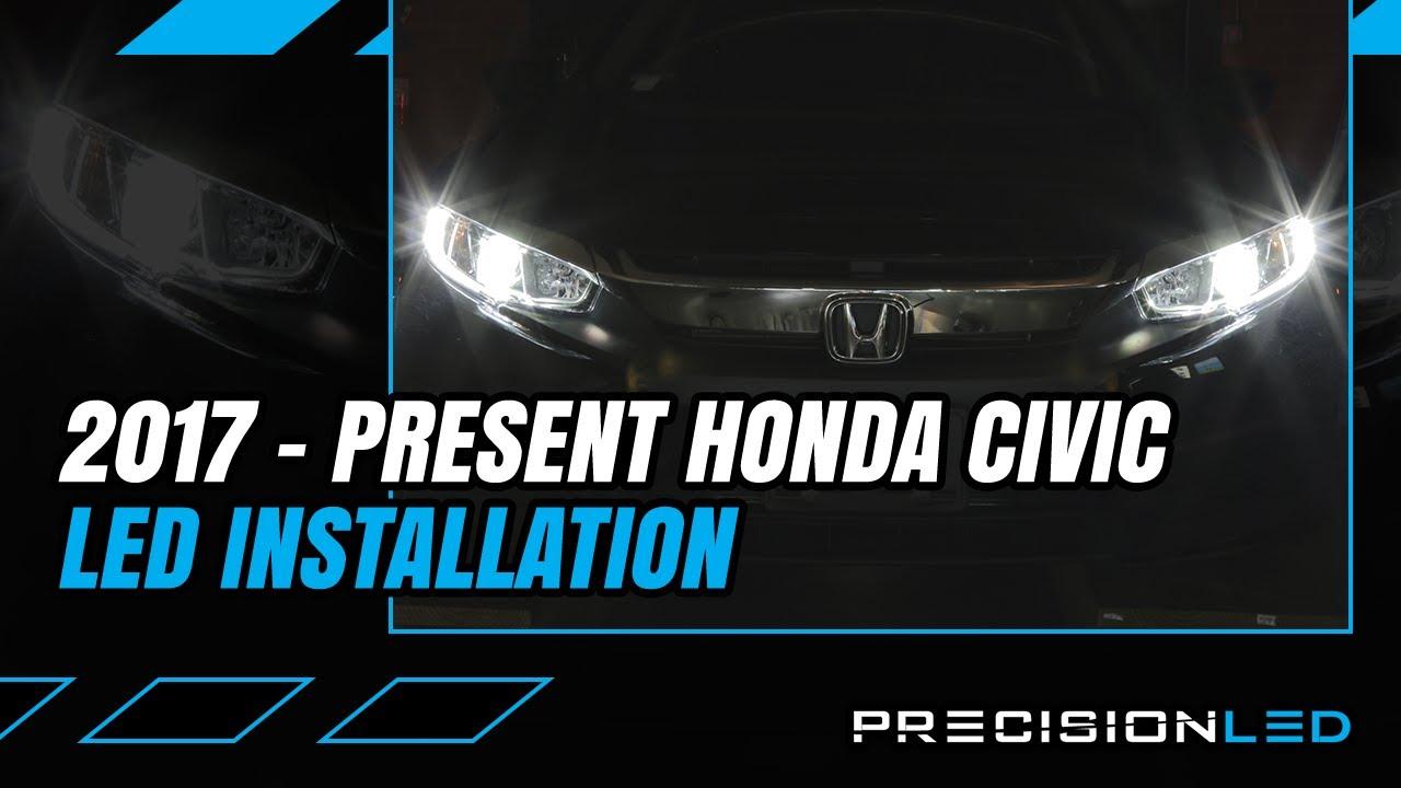 Honda Civic LED Headlights How To Install - 10th Gen ...