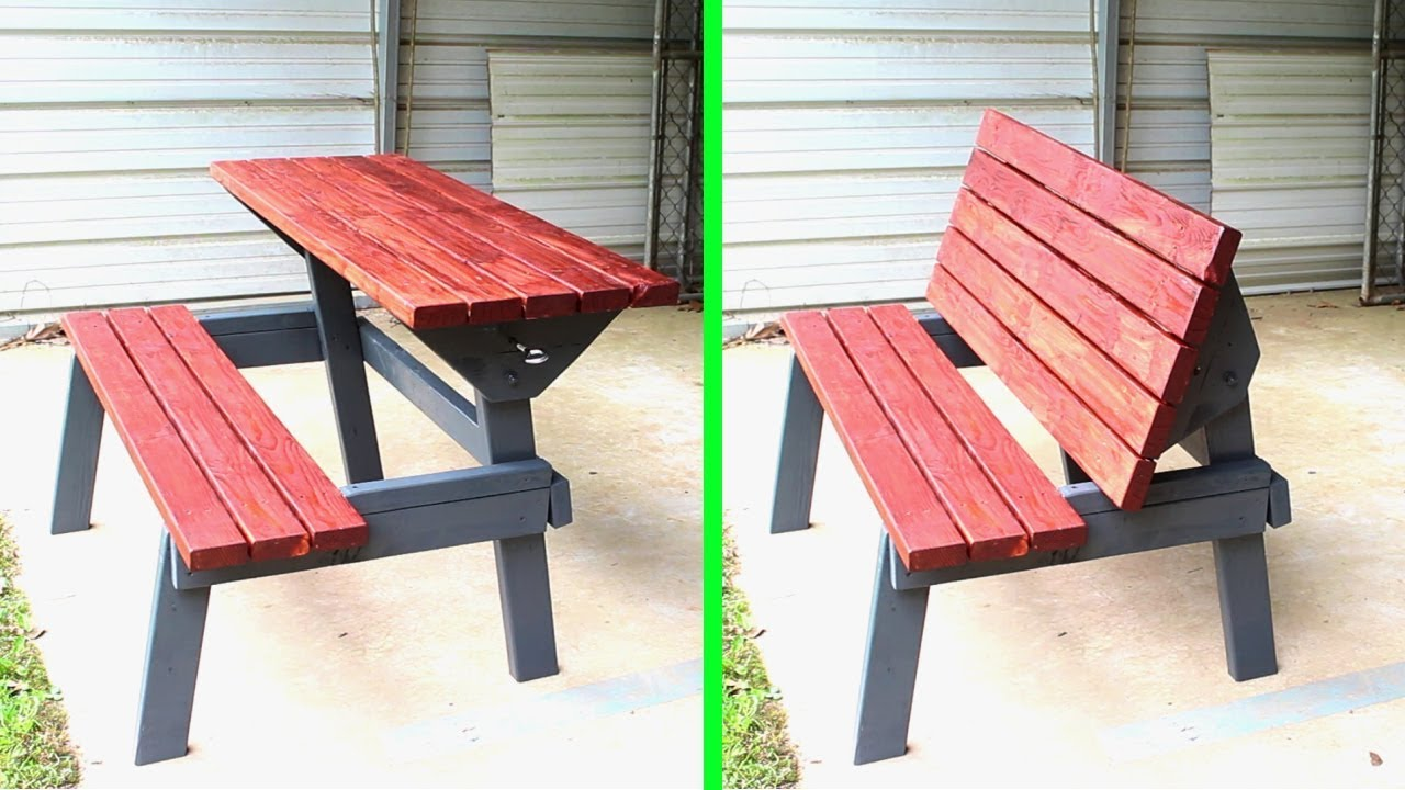 Wooden Bench Table Table Bench Outdoor Furniture Woodworking How To
