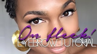 on fleek eyebrow tutorial rikki danielle