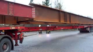 Curtis Heavy Haulage & 40m bridge beam for M80 motorway