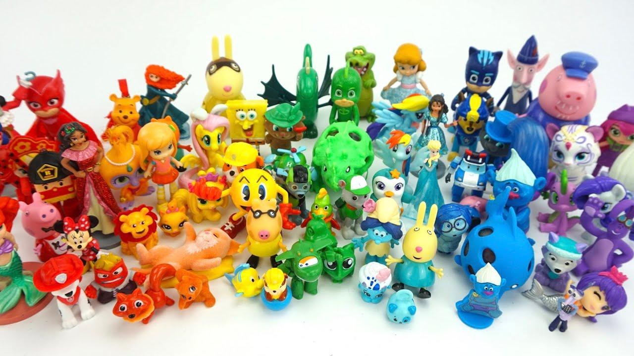 Радуга из любимых игрушек. Игрушки из мультиков