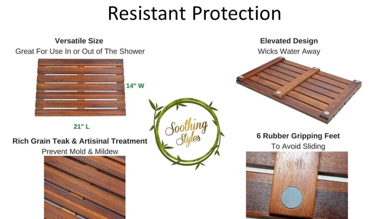Teak Shower Mats and Floors - YouTube