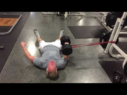 Single Arm Dumbbell Floor Press With Anti-Fly Protocol