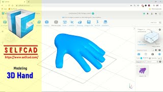 SelfCAD Basic 3D Hand Modeling Tutorial For Beginner