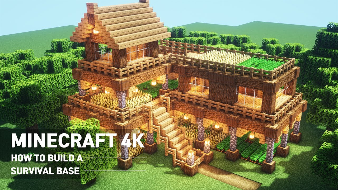 Ultimate Minecraft Survival Base With Everything You Want To Surviveal   Minecraft How To Build