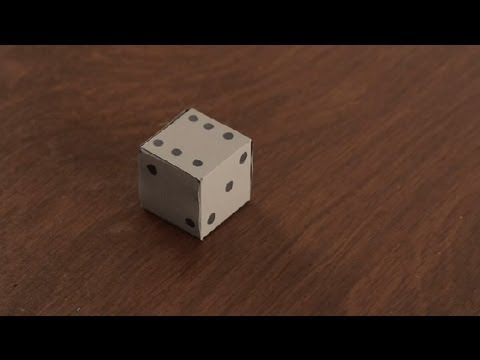How to Make Paper Dice : Paper Art Projects