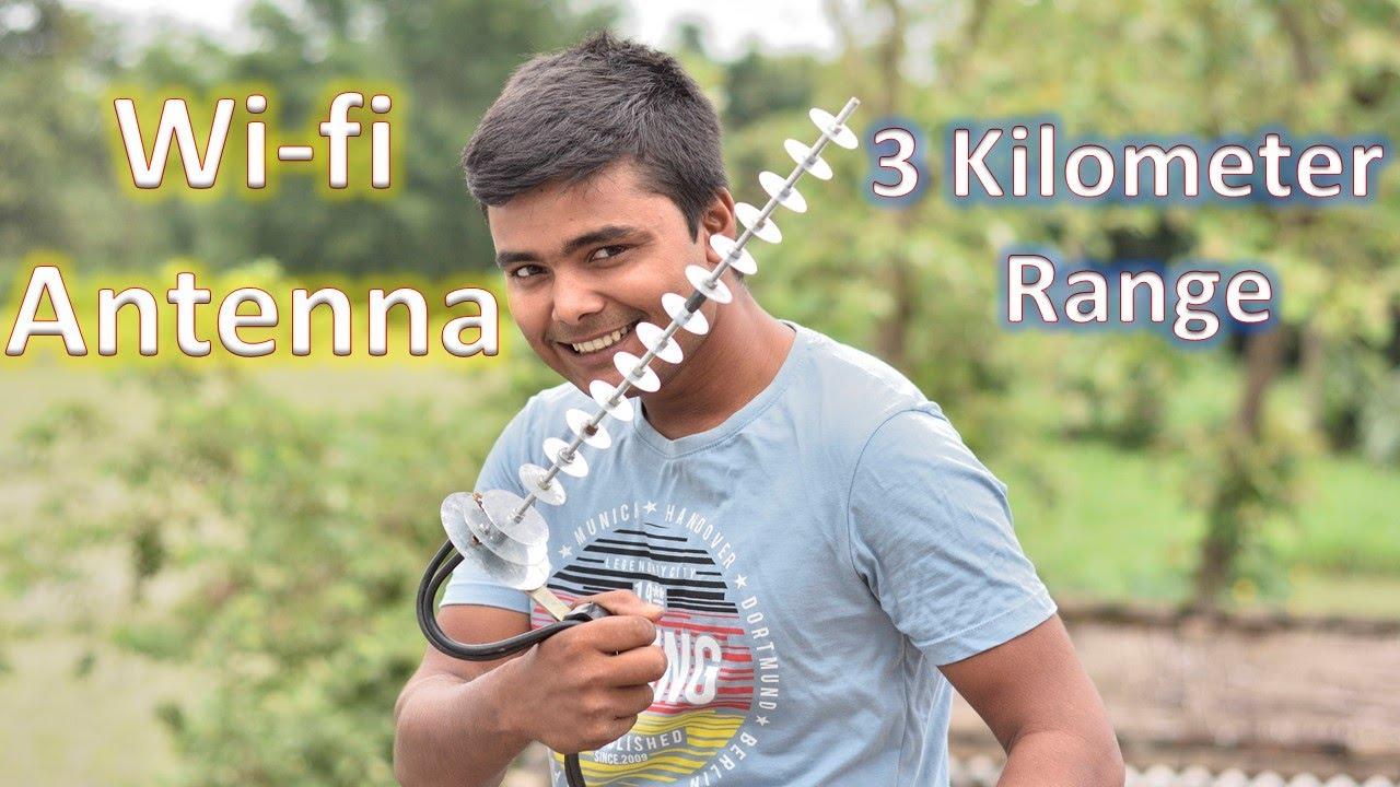 I have Made Wi-Fi Antenna (Range 3 km)