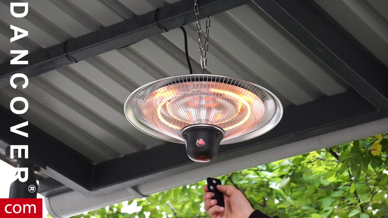cosylifestyle hanging patio heater with a remote control from dancover