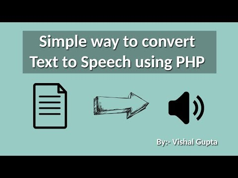 Simple Way To Convert Text To Speech Using PHP | Text To Speach API