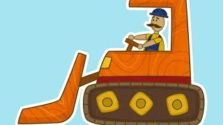 Car Toons: a Bulldozer. A Car Cartoon & Car Games
