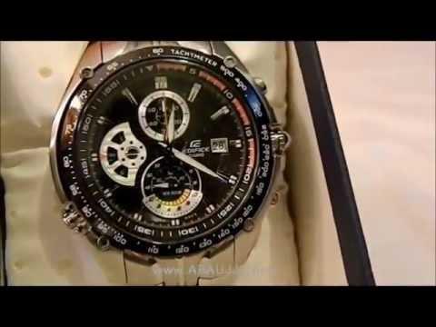d01260fde33f ARAUJJO.COM - Casio Edifice EF 543D 1AV - YouTube