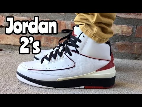 "8cb57e639b3b Air Jordan 2 ""Chicago"" on feet - YouTube"