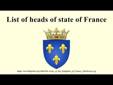 List of heads of state of France