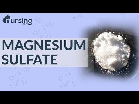 Magnesium Sulfate | MgSO4| Must Know Medications (Nursing School Lessons)