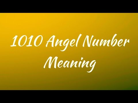 Numerology Angel Number Meaning 1010  Make your spiritual dream a reality!!
