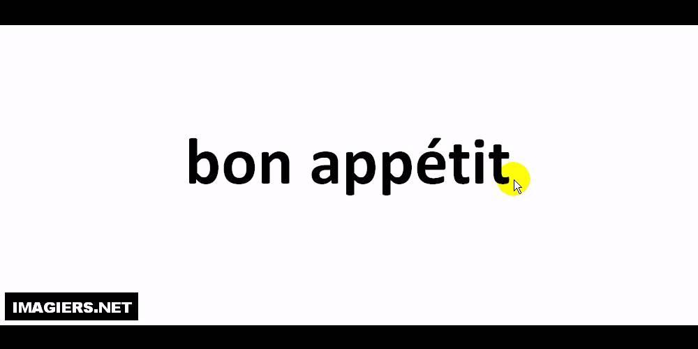 Guten Appetit Französisch pronounce like a bon appé