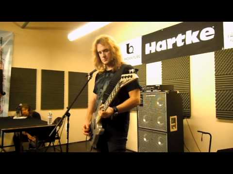 David Ellefson of Megadeth Hartke bass clinic sampler - Ted Brown Music - Tacoma, WA 7/11/11
