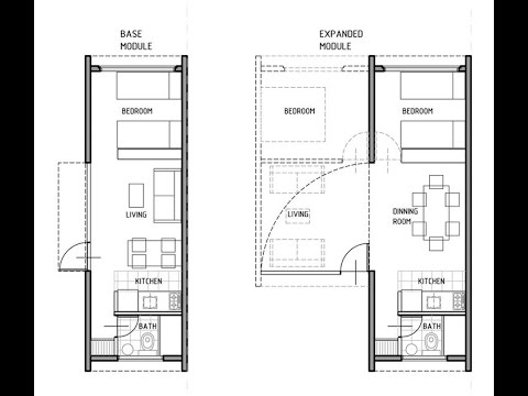 Shipping Container House Technical Plans - Download | Cargo Home DWG ...
