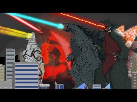 Evolution Of Godzilla Monsters Size: Comparison |  Godzilla Atomic Breath Attacks | Ranking Godzilla