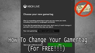 How To Get A Free Xbox Gamertag Change (December 2019)