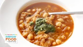 Hearty Chickpea Stew With Pesto | Everyday Food With Sarah Carey
