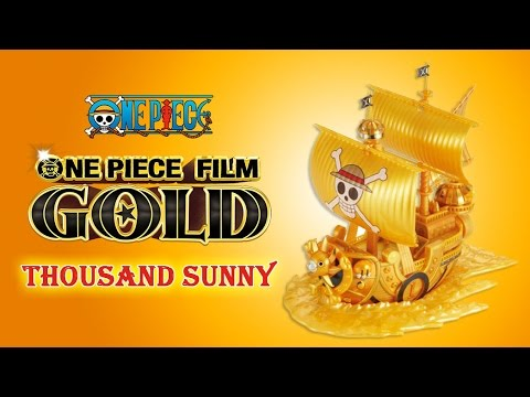 Golden One Piece Thousand Sunny Ship Model - FILM GOLD Grand Ship Collection