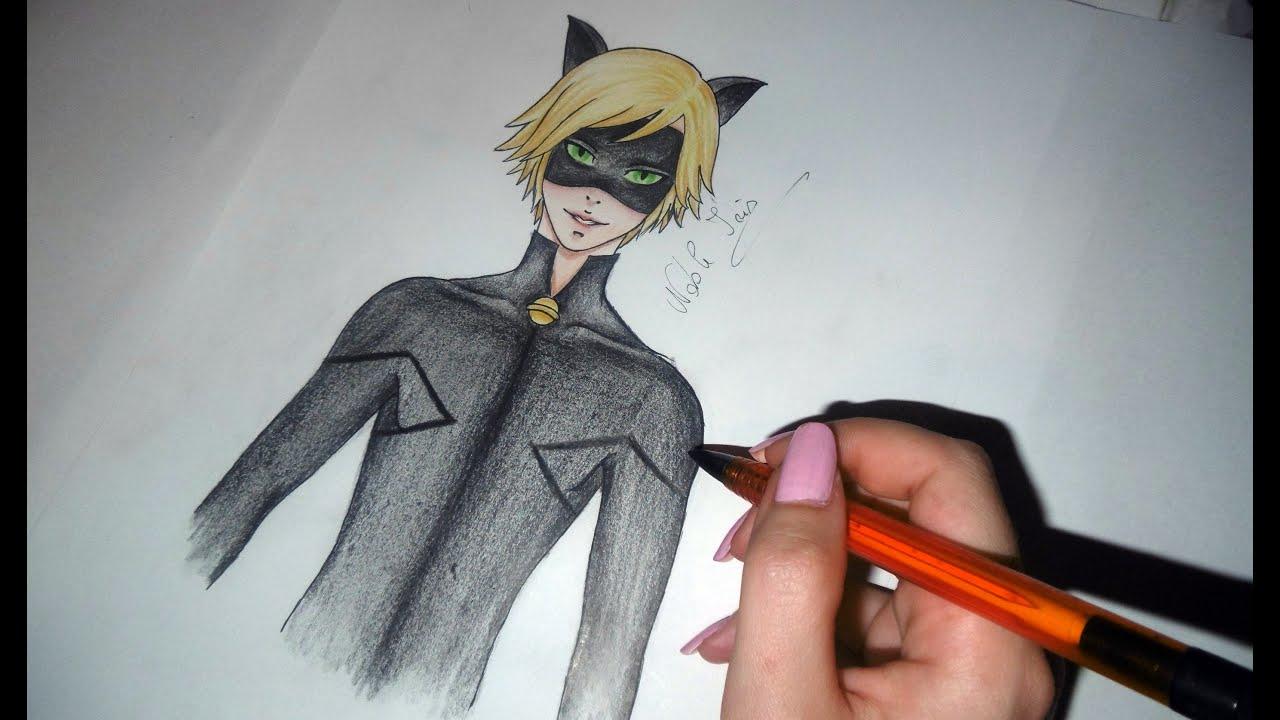 Motan Noir Miraculous Buburuza Si Motan Noir Stil Anime Speed Drawing