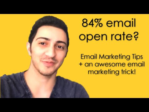 Email Marketing Tips + An awesome trick to get CRAZY open rates!
