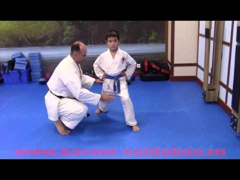 Вопрос: Как выполнять переднюю стойку в сетокан каратэ?