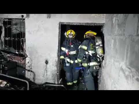 השריפה במוסררה. צילום: כבאות והצלה מחוז ירושלים