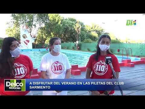 El funcionamiento de las piletas en el club Sarmiento