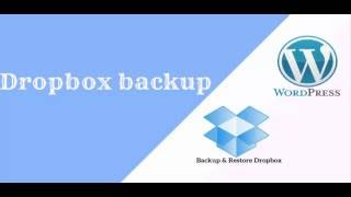 Dropbox backup, using Backup & Restore Dropbox.