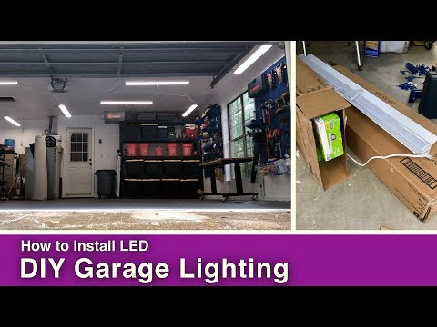 How to Install DIY Garage Lighting