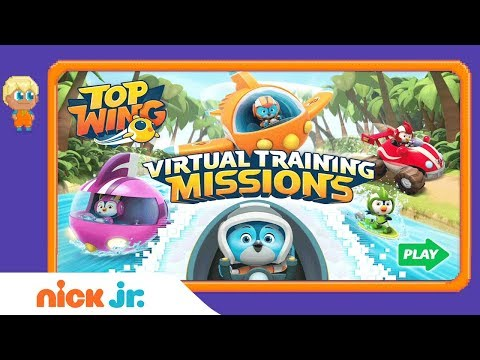 Top Wing: 'Virtual Training Missions' Official Game Walkthrough ✈️   Nick Jr. Games