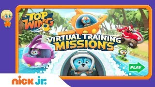Top Wing: 'Virtual Training Missions' Official Game Walkthrough ✈️ | Nick Jr. Games