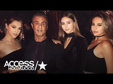 Sylvester Stallone Shows Off His Three Gorgeous Daughters | Access Hollywood